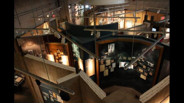 Exposed view of museum exhibitions (Chloe Riley)