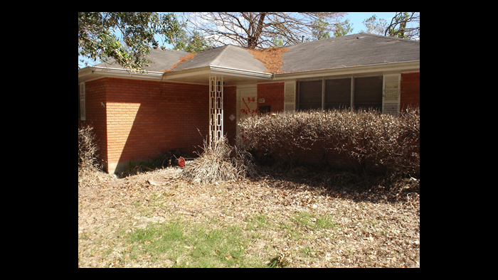 David Kaplinsky's home after Hurricane Katrina.