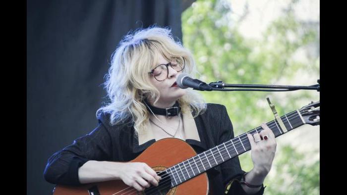 Jessica Pratt performs at Pitchfork in 2015. (Erez Avissar / Pitchfork)