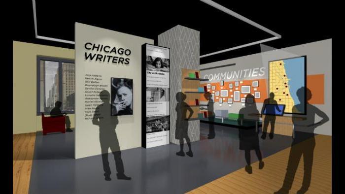 Renderings for the American Writers Museum (Courtesy of the American Writers Museum)