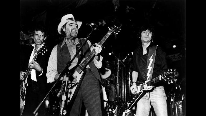 Lonnie Mack plays with the Rolling Stones at the Lone Star in New York City on July 10, 1985. (Courtesy of Alligator Records)