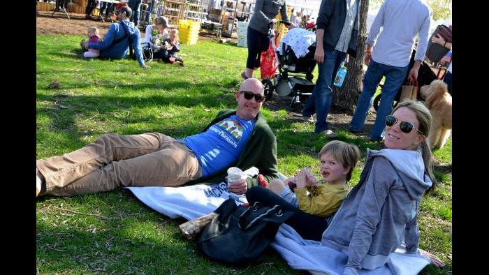 Picnics at Green City Market. (Photo by Cindy Kurman / Kurman Communications)