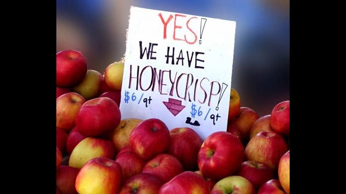 Apples at Green City Market. (Photo by Cindy Kurman / Kurman Communications)