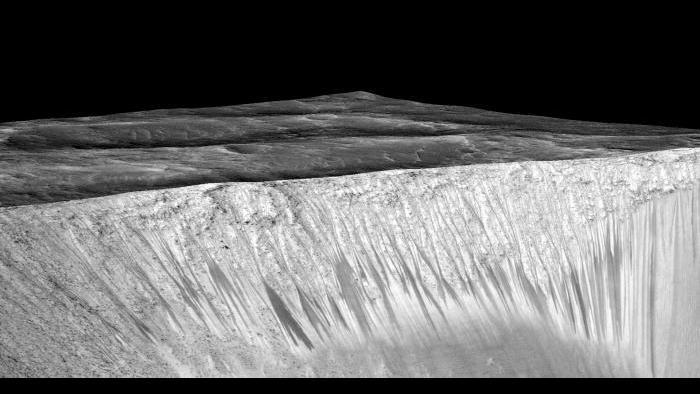 RSL at Garni Crater. Photo by NASA/JPL-Caltech/University of Arizona