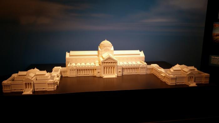 Tucker built a model of the Museum of Science and Industry, where the exhibit is housed. (Adwoa Anom)