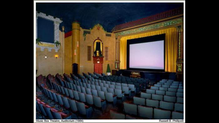 The Music Box Theatre auditorium, 1984. (Courtesy of Music Box Theatre)