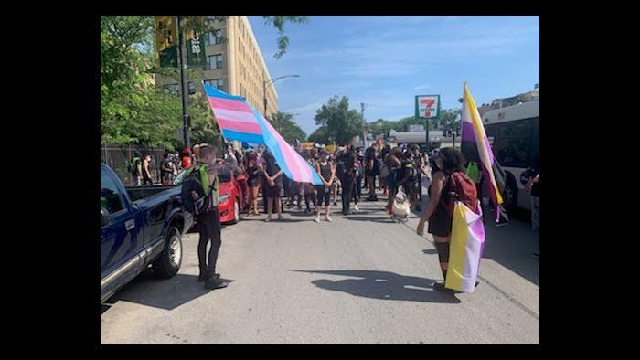 Reclaim Pride event on Sunday, June 28, 2020. (Courtesy Ashabi Owagboriaye)