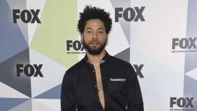"""In this May 14, 2018 file photo, Jussie Smollett, a cast member in the TV series """"Empire,"""" attends the Fox Networks Group 2018 programming presentation after-party in New York. (Photo by Evan Agostini / Invision / AP, File)"""