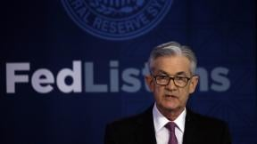 Federal Reserve Chairman Jerome Powell speaks Tuesday, June 4, 2019 at a conference involving its review of its interest-rate policy strategy and communications in Chicago. (AP Photo / Kiichiro Sato)