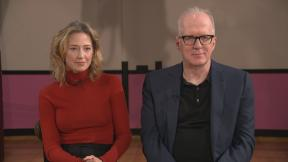 """Carrie Coon and Tracy Letts talk """"Bug"""" with WTTW News."""