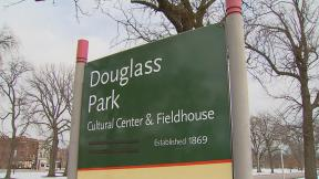 Someone took matters into their own hands and unofficially changed the name of Douglas Park on signage earlier in 2020. (WTTW News)