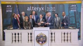 The closing bell of the New York Stock Exchange on Thursday, Jan. 9, 2020. (WTTW News via CNN)