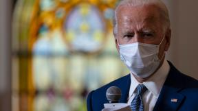 Democratic presidential candidate former Vice President Joe Biden meets with members of the community at Grace Lutheran Church in Kenosha, Wis., Thursday, Sept. 3, 2020. (AP Photo / Carolyn Kaster)