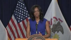 Illinois Department of Public Health Director Dr. Ngozi Ezike talks Wednesday, July 22, 2020 about the rise in coronavirus cases. (WTTW News)