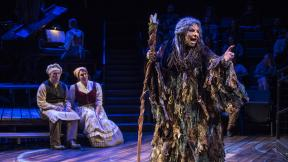 """Michael Mahler, left, Brianna Borger, center and Bethany Thomas in """"Into the Woods."""" (Photo: Michael Brosilow)"""