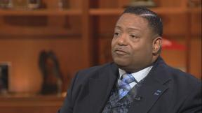 """The Rev. Marvin Hunter appears on """"Chicago Tonight"""" on Jan. 21, 2019."""
