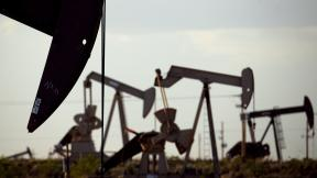 In this April 24, 2015, file photo, pumpjacks work in a field near Lovington, N.M. Oil industry and environmental groups say they expect the Environmental Protection Agency to release a proposed rule over the next few days that will roll back requirements on detecting and plugging methane leaks at oil and gas facilities. (AP Photo/Charlie Riedel, File)