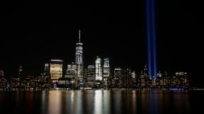 In this Sept. 11, 2017, file photo, the Tribute in Light illuminates in the sky above the Lower Manhattan area of New York, as seen from across the Hudson River in Jersey City, N.J. (AP Photo / Jason DeCrow, File)