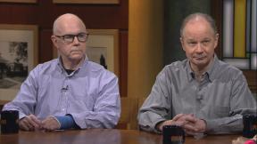 "Matt O'Connor, left, and Greg Kot appear on ""Chicago Tonight"" on Monday, Feb. 10, 2020. (WTTW News)"