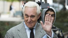 In this Nov. 7, 2019, file photo, Roger Stone arrives at federal court in Washington. (AP Photo / Cliff Owen, File)