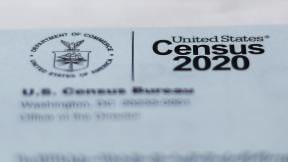 This April 5, 2020, photo shows a 2020 census letter mailed to a U.S. resident in Detroit. (AP Photo / Paul Sancya)