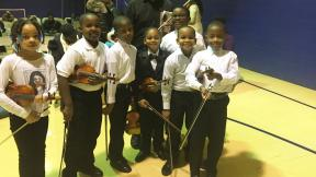 A group of students who participated in the M.U.S.I.C. Inc. program. (Courtesy of Sarah Dupuis)