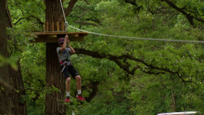Walk in the Woods? Try a Flying Leap at New Zip Line Course