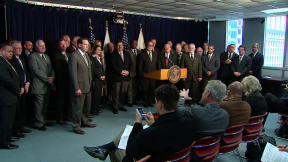 April 27, 2015 - Mayors Rally Against Rauner's Budget Cuts